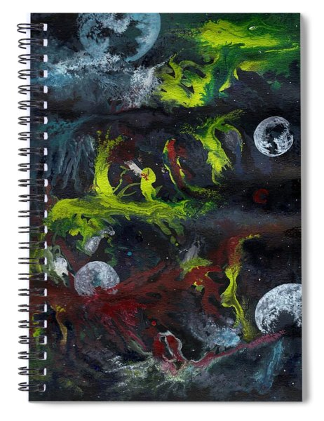 Moons Of Madness Spiral Notebook