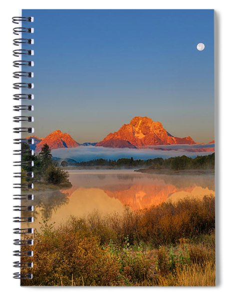 Moonset Over Oxbow Bend Spiral Notebook