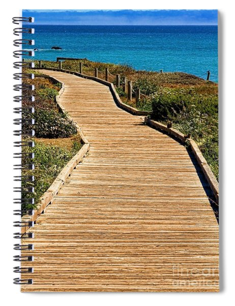 Moonstone Beach Park By Diana Sainz Spiral Notebook