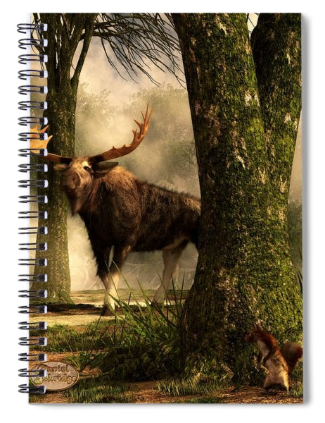 Moose And Squirrel Spiral Notebook