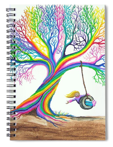 More Rainbow Tree Dreams Spiral Notebook
