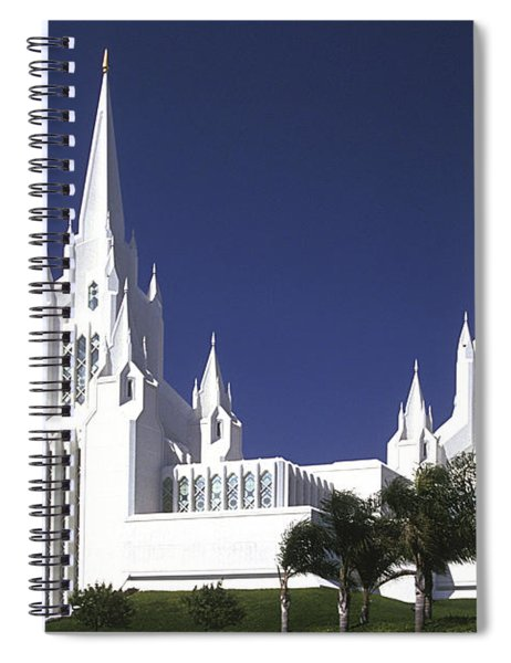 Mormon Temple Spiral Notebook