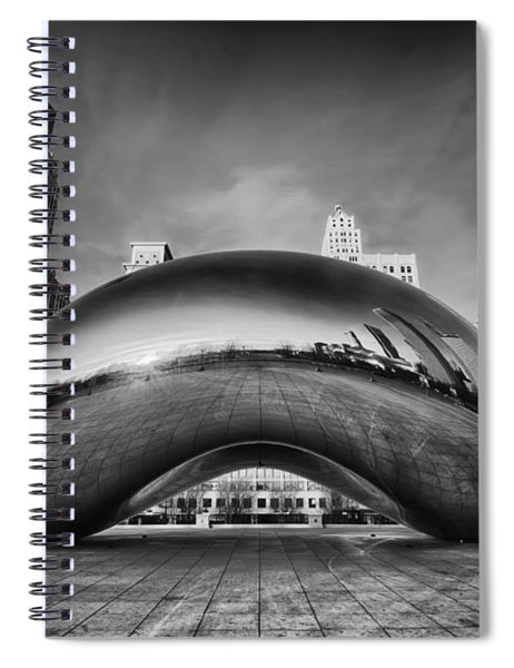 Morning Bean In Black And White Spiral Notebook
