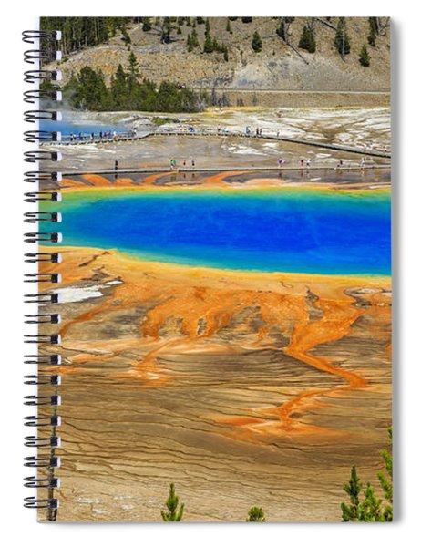 Grand Prismatic Geyser Yellowstone National Park Spiral Notebook