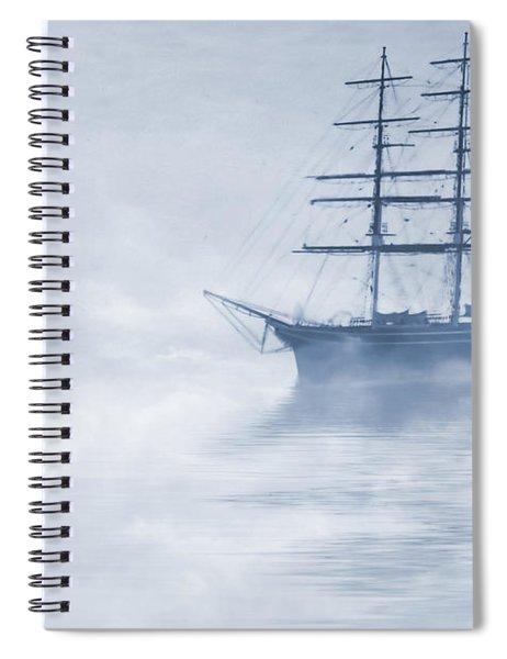 Morning Mists Cyanotype Spiral Notebook