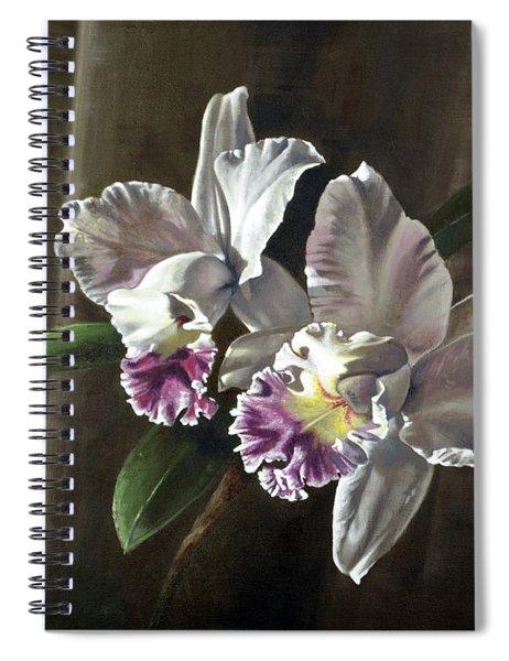 Morning Cattelya Spiral Notebook