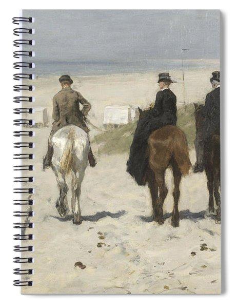 Morning Ride Along The Beach Spiral Notebook
