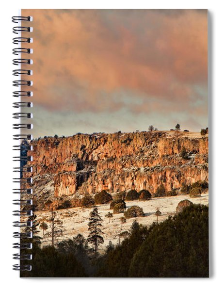 Morning Sun On The Ridge Spiral Notebook