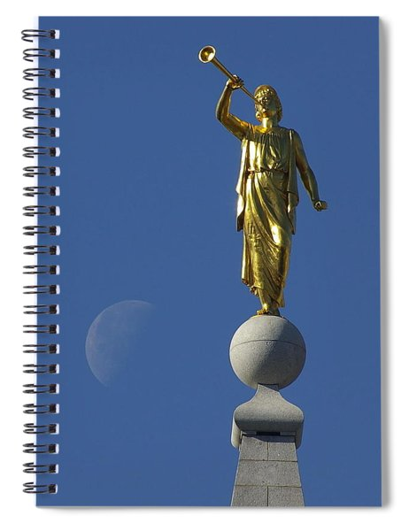 Moroni And The Moon Spiral Notebook