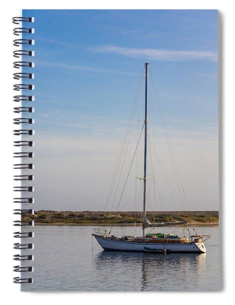 Sailboat At Anchor In Morro Bay Spiral Notebook