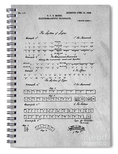 Morse Code Original Patent Spiral Notebook