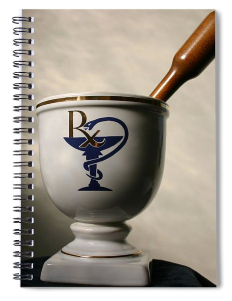 Mortar And Pestle Two Spiral Notebook