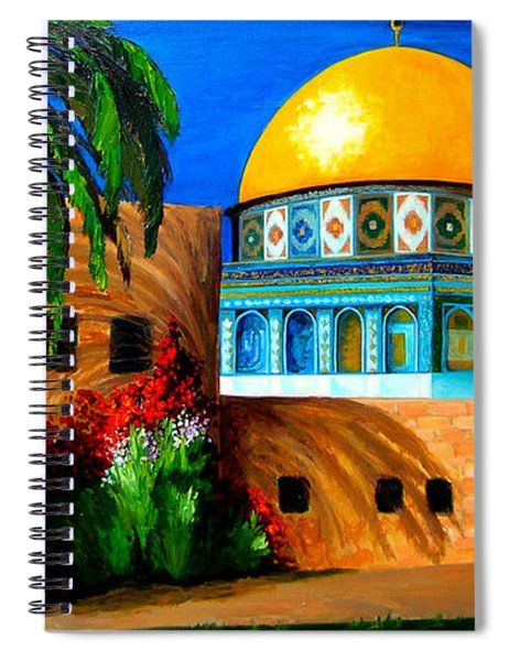 Mosque - Dome Of The Rock Spiral Notebook
