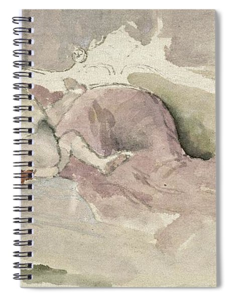 Mother And Child On A Couch Spiral Notebook