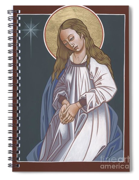 Mother Of God Waiting In Adoration 248 Spiral Notebook