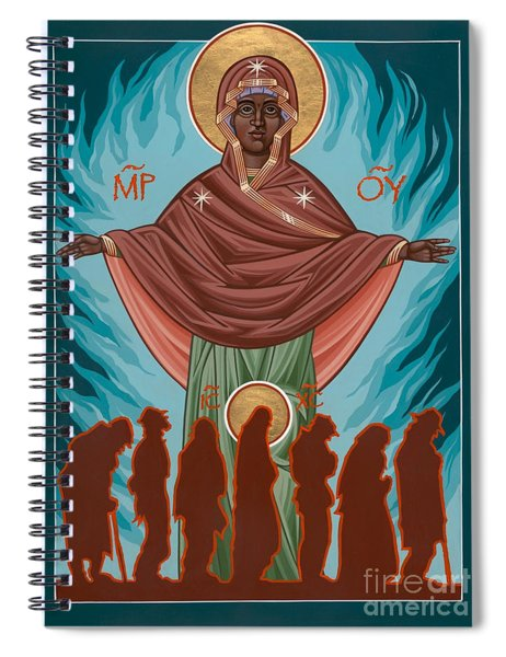 Mother Of Sacred Activism With Eichenberg's Christ Of The Breadline Spiral Notebook