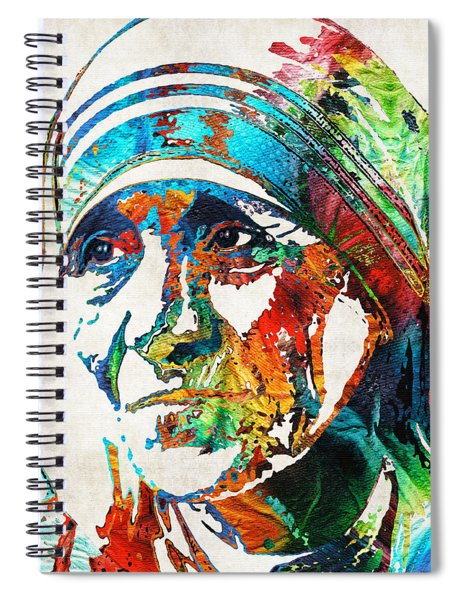Mother Teresa Tribute By Sharon Cummings Spiral Notebook