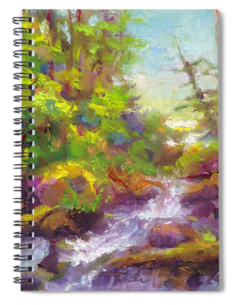 Mother's Day Oasis - Woodland River Spiral Notebook