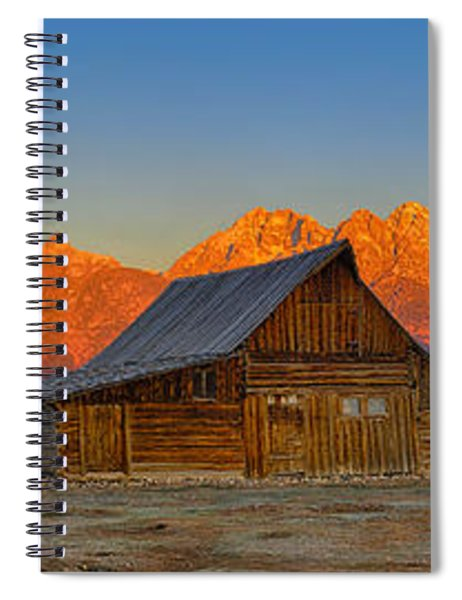 Moulton Barn Alpenglow Panorama Spiral Notebook