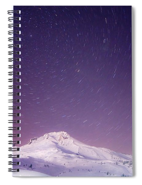 Mount Hood And Stars Spiral Notebook