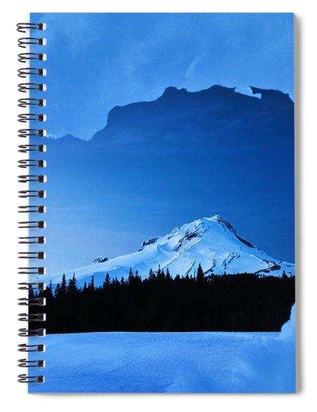 Mount Hood Blues Spiral Notebook