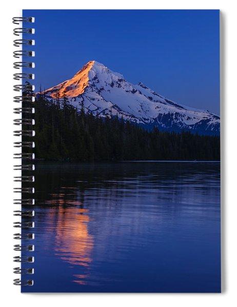 Mount Hood First Light Spiral Notebook