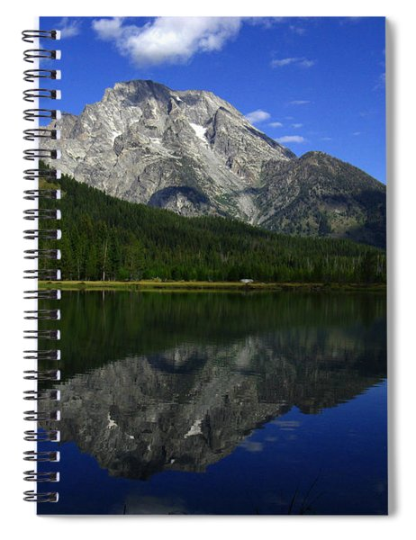 Mount Moran And String Lake Spiral Notebook