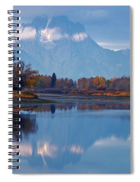 Mount Moran From Oxbow Bend In Autumn Spiral Notebook