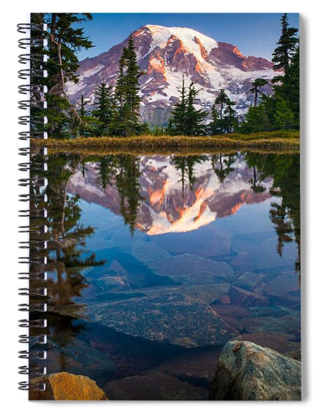 Mount Rainier Tarn Spiral Notebook