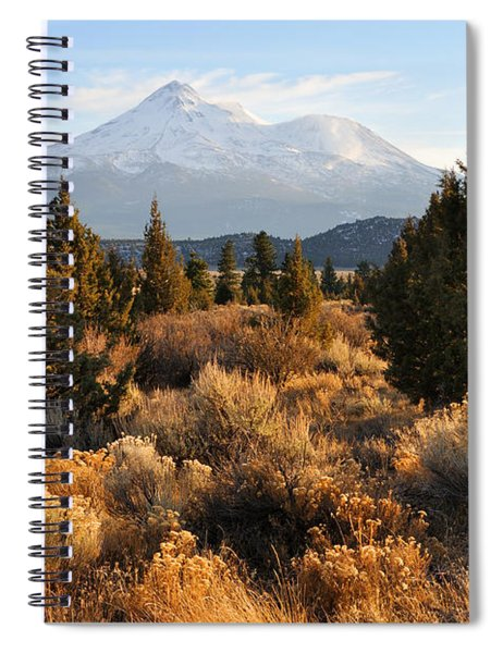Mount Shasta In The Fall  Spiral Notebook