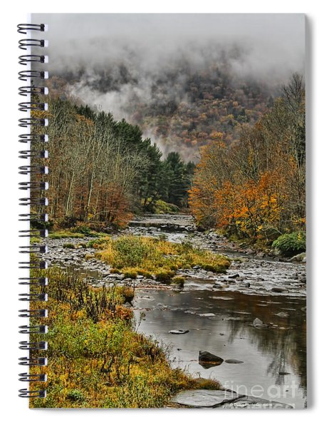Mountain Colors And Fog Spiral Notebook