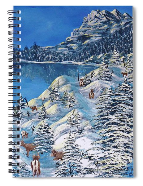 Mountain Goats Of Grand Forks Spiral Notebook