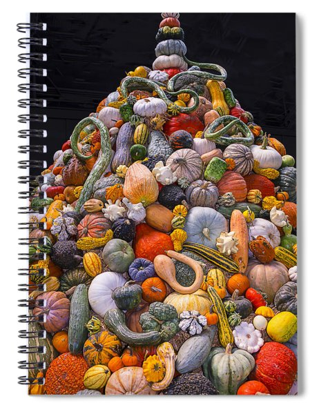 Mountain Of Gourds And Pumpkins Spiral Notebook