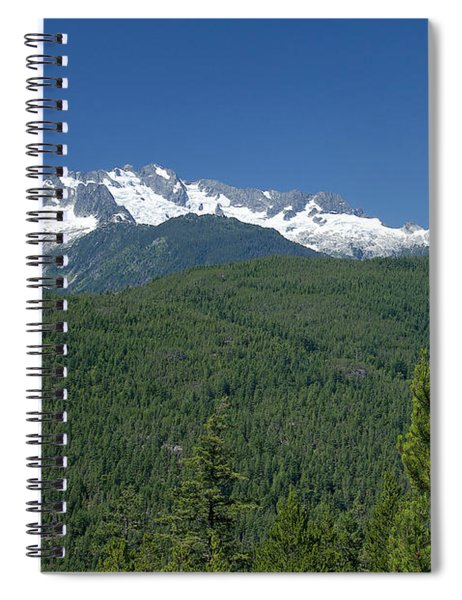 Mountain View Along The Sea To Sky Highway Spiral Notebook