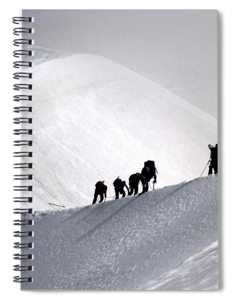 Mountaineers To Conquer Mont Blanc Spiral Notebook