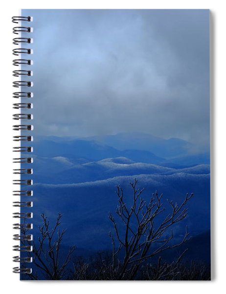 Mountains And Ice Spiral Notebook
