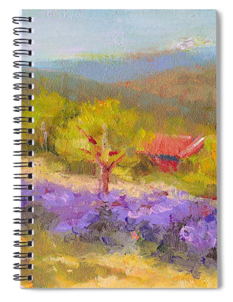 Mountainside Lavender   Spiral Notebook