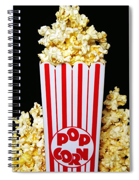 Movie Night Pop Corn Spiral Notebook