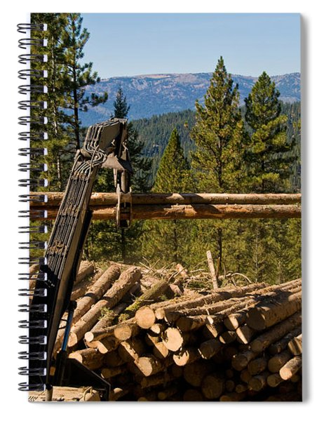 Moving Logs Spiral Notebook
