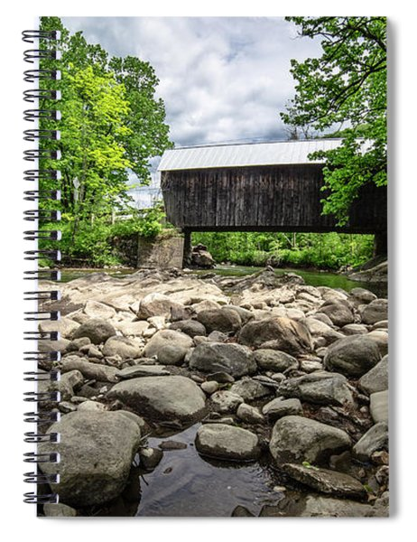 Moxley Covered Bridge Chelsea Vermont Spiral Notebook