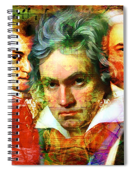 Mozart Beethoven Bach 20140128 Spiral Notebook