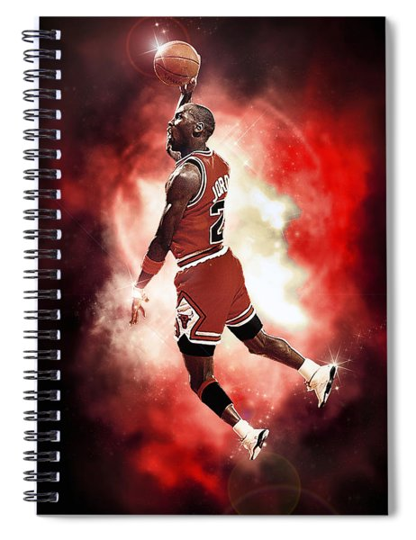 Mr. Michael Jeffrey Jordan Aka Air Jordan Mj Spiral Notebook