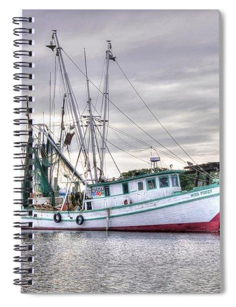 Mrs Pudgy Shrimp Docks Spiral Notebook