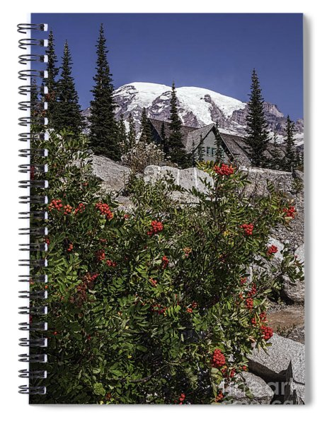 Mt Ash At Mt Rainier Spiral Notebook