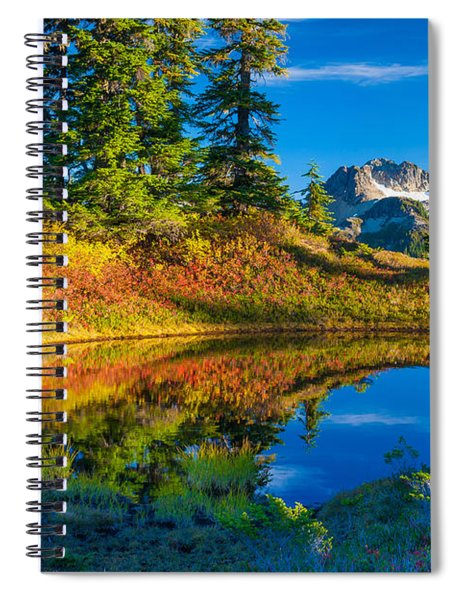 Mt Baker Tarn In Fall Spiral Notebook