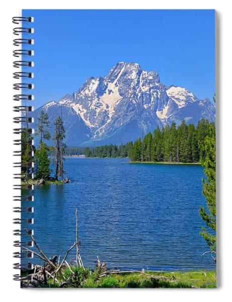 Mt Moran At Half Moon Bay Spiral Notebook