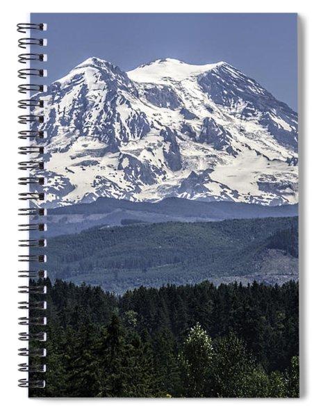 Mt Rainer In July Spiral Notebook