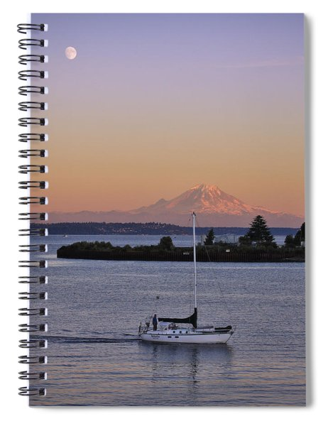 Mt. Rainier Afterglow Spiral Notebook