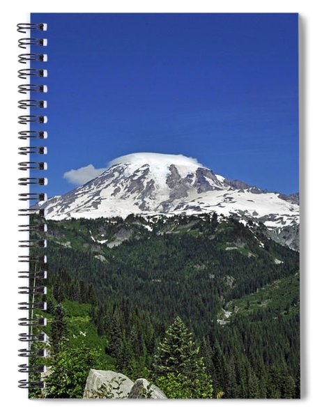 Mt Rainier Between The Valley Spiral Notebook