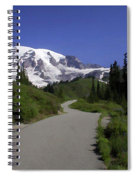 Mt Rainier Painted Spiral Notebook